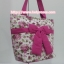 กระเป๋าสะพาย นารายา ผ้าคอตตอน พื้นสีขาว ลายดอกกุหลาบ สีชมพู ผูกโบว์ (กระเป๋านารายา กระเป๋าผ้า NaRaYa กระเป๋าแฟชั่น) thumbnail 1