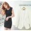 Pre-Order เสื้อสูททำงานแขนยาว เสื้อสูทผู้หญิง สูทลำลอง สีขาว แฟชั่นชุดทำงานสไตล์เกาหลี thumbnail 4
