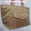 กระเป๋าสะพาย นารายา ผ้าซาตินมัน ลายตารางเล็ก สีทอง มีกระเป๋าด้านหน้า ติดโบว์เล็กๆ น่ารัก สายหิ้ว หูเปีย (กระเป๋านารายา กระเป๋าผ้า NaRaYa กระเป๋าแฟชั่น) thumbnail 1