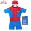 ( For Kids ) Swimsuit for Boy ชุดว่ายน้ำ เด็กผู้ชาย Spiderman บอดี้สูท กางเกงขาสั้น มาพร้อมหมวกว่ายน้ำและถุงผ้า สุดเท่ห์ ใส่สบาย ลิขสิทธิ์แท้ thumbnail 4