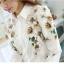 Pre-order เสื้อเชิ้ตแขนยาว เสื้อทำงานแขนยาว สีขาวพิมพ์ลายดอกไม้ แฟชั่นสไตล์เกาหลีปี 2015 thumbnail 9