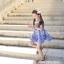 เดรสสก็อตสีน้ำเงิน สายเดี่ยวผ้าลูกไม้ PinkIdeal thumbnail 4