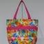 กระเป๋าสะพาย นารายา ผ้าคอตตอน ลายดอกชบา สีสดใส ผูกโบว์ (กระเป๋านารายา กระเป๋าผ้า NaRaYa กระเป๋าแฟชั่น) thumbnail 5