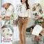 Pre-order เสื้อเชิ้ตแขนยาว เสื้อทำงานแขนยาว สีขาวพิมพ์ลายดอกไม้ แฟชั่นสไตล์เกาหลีปี 2015 thumbnail 4