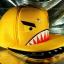 หมวกฉลาม ปากอ้า สีเหลือง (2 ปีก) ลายใหม่ หน้ากวน thumbnail 2