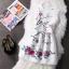 ชุดเดรสลายดอกไม้ ทรงพริ้นส์เซสสไตล์ยุโรป เอวจับจีบ มีซิปด้านหลัง thumbnail 1