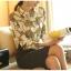 Pre-order เสื้อเชิ้ตชีฟองแขนยาว เสื้อทำงานแขนยาว พิมพ์ลายโซ่ท่อง แฟชั่นสไตล์เกาหลีปี 2015 thumbnail 3