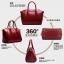 (Pre-order) กระเป๋าหนังแท้ กระเป๋าสะพายผู้หญิง หนังเรียบ แบบคลาสสิค สไตล์ยุโรป อเมริกา สีดำ thumbnail 9