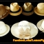 หมวกสาน คุณนายปีกรอบกว้างมาก สีขาวครีม โบว์โทนน้ำตาลทอง สวยหวานมากๆ thumbnail 6