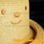 หมวกสาน หน้ายิ้ม สีน้ำตาลอ่อน ปีกรอบม้วน น่ารักมากกกกก !!! thumbnail 3