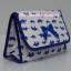 กระเป๋าเครื่องสำอางค์ นารายา ผ้าคอตตอน สีขาว ลายช้างแม่-ลูก สีน้ำเงิน มีกระจกในตัว Size L (กระเป๋านารายา กระเป๋าผ้า NaRaYa) thumbnail 1