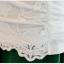 Pre-order เสื้อฤดูร้อนผ้ายืด ทอลูกไม้ คอวี สไตล์แฟชั่นเกาหลีแท้ สีขาว thumbnail 7