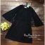 Elegant Black Lace Shawl Korea Dress เดรสสวยสง่าสไตล์งานแบรนด์ หรูหราด้วยทรงเดรสแขนกุด ตกแต่งผ้าลูกไม้เนื้อดีคลุมไหล่และช่วงอกของเดรส ผ่าช่วงแขนให้ดูมีดีเทลสวยสง่า กระโปรงทรงปล่อย งานสวยตามแบบ ใช้เนื้อผ้าอย่างดีในการตัดเย็บ บอกเลยงานนี้พลาดไม่ได้เลยค่ะ เน thumbnail 11