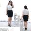 (Pre-order) เสื้อเชิ้ตทำงาน เสื้อเชิ้ตผู้หญิงแขนสั้น สีขาว ไซส์ใหญ่ thumbnail 8