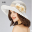 Pre-order หมวกผ้าไหมแท้ติดโบว์ดอกไม้แฟชั่นฤดูร้อน กันแดด กันแสงยูวี สวยหวาน สีครีม thumbnail 1