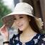 Pre-order หมวกแฟชั่น หมวกใบกว้าง หมวกฤดูร้อน กันแดด หมวกกันแสงยูวี ผ้าลินิน สีขนสัตว์พิมพ์ลายดอกไม้ thumbnail 2