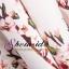 Pre-Order กระโปรงจีบรอบตัวสไตล์วินเทจ เอวสูง สีขาวพิมพ์ลายดอกไม้สีชมพูหวาน ๆ ความยาวแค่เข่า thumbnail 3