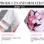 ชุดเดรสแฟชั่นเกาหลีพิมพ์ลายดอกไม้หน้าอกแขนตัดต่อซีทรูน่ารัก สีขาว thumbnail 13