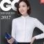 Pre-order เสื้อผ้าแฟชั่นเกาหลีปี 2017 เสื้อเชิ้ตทำงาน เสื้อผ้าทำงาน แขนยาว กระดุมหน้า ผ้าฝ้ายผสม มี 6 สี ดำ ขาว ชมพู ฟ้า แดง กรมท่า thumbnail 3