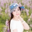 Pre-order หมวกแฟชั่น หมวกแก็ปปีกกว้าง หมวกฤดูร้อน กันแดด กันแสงยูวี สีฟ้าอ่อนแต่งด้วยผ้าพิมพ์ลายดอกไม้ thumbnail 2