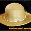 หมวกสาน คุณนาย สีน้ำตาล พันเชือกน้ำตาล ครีม ร้อยลูกปัด สวยหวานมากๆ thumbnail 4