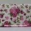 กระเป๋าเครื่องสำอางค์ นารายา ผ้าคอตตอน พื้นสีขาว ลายดอกกุหลาบ สีชมพู มีกระจกในตัว Size L (กระเป๋านารายา กระเป๋าผ้า NaRaYa) thumbnail 4