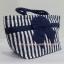 กระเป๋าถือ นารายา Size M ผ้าคอตตอน ลายทาง น้ำเงิน-ขาว ผูกโบว์ สีน้ำเงิน สายหิ้ว หูเกลียว (กระเป๋านารายา กระเป๋าผ้า NaRaYa กระเป๋าแฟชั่น) thumbnail 1