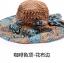 Pre-order หมวกปีกกว้างแฟชั่นฤดูร้อน กันแดด กันแสงยูวี สวยหวานเรียบหรู ดูดี สีน้ำตาลลายฟ้าส้ม thumbnail 1