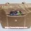 กระเป๋าสะพาย นารายา ผ้าซาตินมัน ลายตารางเล็ก สีทอง มีกระเป๋าด้านหน้า ติดโบว์เล็กๆ น่ารัก สายหิ้ว หูเปีย (กระเป๋านารายา กระเป๋าผ้า NaRaYa กระเป๋าแฟชั่น) thumbnail 6