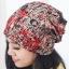 (Pre-order) หมวกไหมพรม หมวกคลุมผม แบบ 3 in 1 เป็นหมวกกันหนาว เป็นหมวกคลุมผม เป็นผ้าพันคอ ผ้าฝ้ายพิมพ์ลายกราฟฟิก สีโทนแดง thumbnail 1