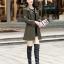 (Pre-order) เสื้อแจ็คเก็ตหนังแท้ เสื้อโค๊ตยาว หนังแกะ แฟชั่นเกาหลี สีเขียวทหาร thumbnail 3