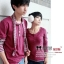เสื้อคู่เกาหลี ชมพูเข้ม thumbnail 2