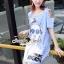 Seoul Secret Say's... Chill Open Shoulder Denim Dress Material : เดรสยีนส์เดนิมเก๋ๆ ชิคๆ ด้วยทรงเดรสเว้าไหล่ เก๋ๆ ด้วยงานพิมพ์ลายสาวแว่น เติมความเก๋ด้วยงานประดับด้วยวิ้งเลื่อมๆ ที่แว่นนะคะ ทรงเก๋น่าใส่ ใส่แมตซ์กับรองเท้าผ้าใบก็สวยเก๋แล้วคะ thumbnail 7