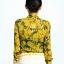 Pre-Order เสื้อผ้าแฟชั่นผู้หญิง คอผูก แขนยาว พิมพ์ลายมะนาว ผ้าชีฟองเนื้อดี สีเหลือง thumbnail 3
