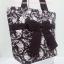 กระเป๋าสะพาย นารายา ผ้าคอตตอน สีน้ำตาล พิมพ์ลายดอกไม้ ผูกโบว์ (กระเป๋านารายา กระเป๋าผ้า NaRaYa กระเป๋าแฟชั่น) thumbnail 1