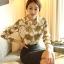 Pre-order เสื้อเชิ้ตชีฟองแขนยาว เสื้อทำงานแขนยาว พิมพ์ลายโซ่ท่อง แฟชั่นสไตล์เกาหลีปี 2015 thumbnail 4