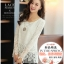 (Pre-Order) เสื้อลูกไม้ชีฟองแขนยาว สีพื้น เสื้อทำงานหรือลำลอง แฟชั่นเสื้อลูกไม้สไตล์เกาหลีปี 2014 thumbnail 16