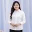 (Pre-order) เสื้อเชิ้ตทำงาน เสื้อเชิ้ตผู้หญิงแขนยาว สีขาว ไซส์ใหญ่ thumbnail 4