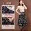 Pre-Order กระโปรงผ้าโพลีเอสเตอร์พิมพ์ลายดอกไม้ สไตล์วินเทจ ผ้าเนื้อหนา แฟชั่นปี 2015 thumbnail 5