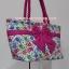 กระเป๋าสะพาย นารายา Size L ผ้าคอตตอน พื้นสีขาว ลายช้าง ผูกโบว์ สายหิ้ว หูเกลียว (กระเป๋านารายา กระเป๋าผ้า NaRaYa กระเป๋าแฟชั่น) thumbnail 1
