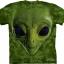 Pre.เสื้อยืดพิมพ์ลาย3D The Mountain T-shirt : Green Alien Face thumbnail 1