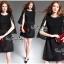 Elegant Black Lace Shawl Korea Dress เดรสสวยสง่าสไตล์งานแบรนด์ หรูหราด้วยทรงเดรสแขนกุด ตกแต่งผ้าลูกไม้เนื้อดีคลุมไหล่และช่วงอกของเดรส ผ่าช่วงแขนให้ดูมีดีเทลสวยสง่า กระโปรงทรงปล่อย งานสวยตามแบบ ใช้เนื้อผ้าอย่างดีในการตัดเย็บ บอกเลยงานนี้พลาดไม่ได้เลยค่ะ เน thumbnail 10