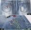 (Pre-order) กระโปรงยีนส์ ปักรูปผีเสื้อดอกไม้ ทรงตรง สีบลูยีนส์ thumbnail 7