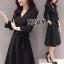 Sevy V-Neck Classy Black Ribbon Waist Dress Type: Dress Fabric: Spandex เนื้อผ้าเกรดดี เนื้อผ้ายืดหยุ่นได้ เนื้อผ้ามีน้ำหนักค่อนข้างมาก Detail : Dress ลุคเรียบหรู คอวี แขนยาว ชายแขนเสื้อผ่าขึ้นเล็กน้อย กระดุมผ่าหน้าใส่ง่าย มาพร้อมเชือกผ้าผูกเอว ใส่ออกมาแล thumbnail 5