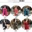(Pre-order) เสื้อแจ็คเก็ตหนังแท้ เสื้อโค๊ตยาว หนังแกะ แฟชั่นเกาหลี สีไวน์แดง thumbnail 5