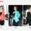 เสื้อสูทผู้หญิง สูทบาง ฝีมือตัดเย็บระดับ High -end นำเข้าจากประเทศเกาหลีแท้ แขนยาว สีส้มโอลด์โรส thumbnail 3