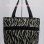กระเป๋าสะพาย นารายา ผ้าคอตตอน พิมพ์ลายม้าลาย สีดำ-น้ำตาล ผูกโบว์ (กระเป๋านารายา กระเป๋าผ้า NaRaYa กระเป๋าแฟชั่น) thumbnail 5