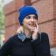 (Pre-order) หมวกไหมพรม เส้นใยสังเคราะห์ ถักทอเนื้อแน่น หมวกกันหนาวได้ดี แบบสวย เรียบง่าย แต่ไม่ธรรมดา สะท้อนความเป็นตัวของตัวเองของคุณ สีฟ้า thumbnail 1