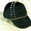 หมวกแก๊ป Cap สีดำ แต่งหมุดหนามสีเงิน 2 แถว ร้อยโซ่ thumbnail 2