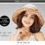 Pre-order หมวกผ้าไหมแท้ติดโบว์ดอกไม้แฟชั่นฤดูร้อน กันแดด กันแสงยูวี สวยหวาน สีน้ำตาล thumbnail 4
